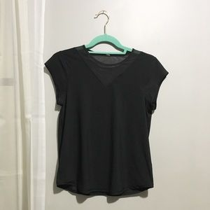 Lululemon Black Mesh Short Sleeve